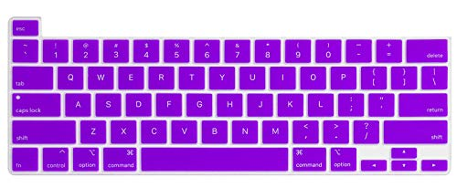 Se7enline Mac Book Pro 13 inch Case 2020 New Plastic Hard Laptop Cover for MacBook Pro 13.3-inch Model A2338/A2251/A2289 with Sleeve Bag, Keyboard Cover, Screen Protector, Dust Plug, Light Purple