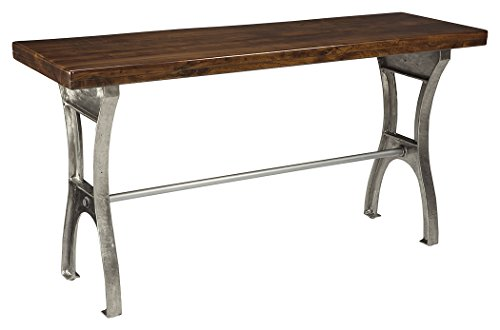 Ashley Furniture Signature Design - Dresbane Casual Sofa or Entryway Table - Warm Brown
