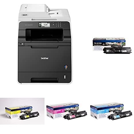 Brother DCP-L8400CDN - Impresora multifunción láser color + Pack de 4 tóners TN321