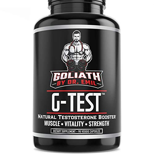 Goliath by Dr. Emil G-Test - Natural Testosterone Booster for Men - Supports Lean Muscle Growth, Energy, Recovery & Libido (90 Veggie - Capsules 90 Nutrition Zma