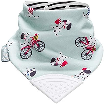 Teething Bibs for Toddlers and Babies Multi Award Winning Neckerchew Design by Cheeky Chompers Absorbent Bandana Style Dribble Bib with Silicone Teether Super Hygienic Cheeky Animals