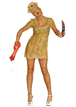 Disfraz de Enfermera Zombie Estilo Zombie para Mujer Medium (UK 10 ...