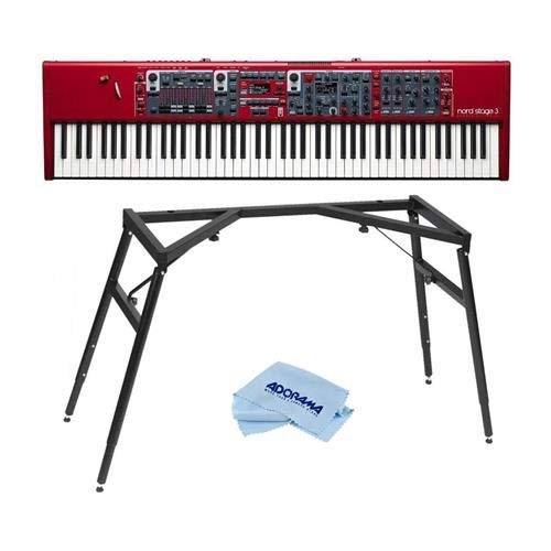 Photo NORD Stage 3 88 88-Key Digital Stage Piano with Fully Weighted Hammer Action Keybed - With NORD Keyboard Stand, Microfiber Cloth