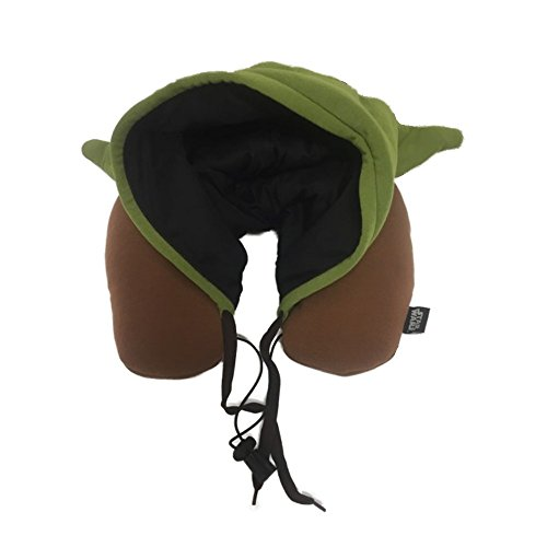 Genuine Disney Star Wars Yoda Hooded Neck Pillow - Hood with Ears
