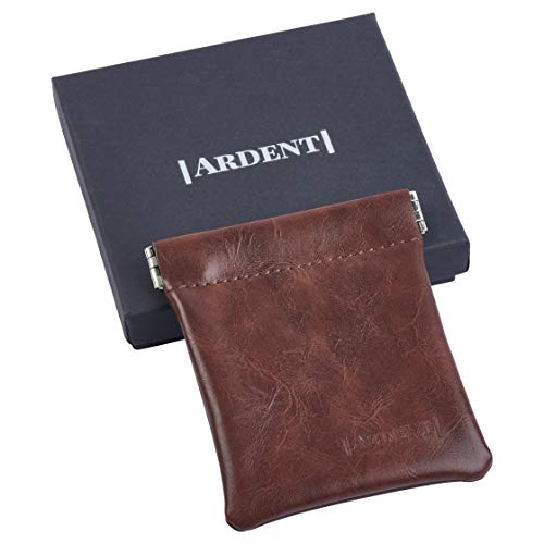 Multi-Purpose Protective Soft case Wallet Ideal for Condoms/Credit Card/Coins - Holds up to 4 XXL Condoms / 15 Credit Cards / 40 Quarters (Dark brown)