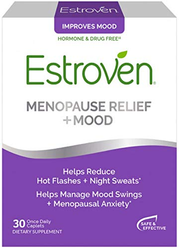 Estroven Stress Plus Mood & Memory | Menopause Relief Dietary Supplement | Safe Multi-Symptom Relief | Helps Reduce Hot Flashes & Night Sweats* | Helps Manage Daily Stress & Mood* | 30 Caplets (Best Time Of Day To Take Estroven Weight Management)