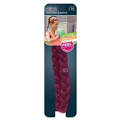 Scunci Everyday & Active No-Slip Grip Braid Headband - 20361-A (1 PC)