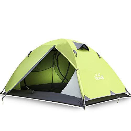 BQGG Tente de Camping Double en Plein air Tente Professionnelle de Camping d'escalade (Vert)