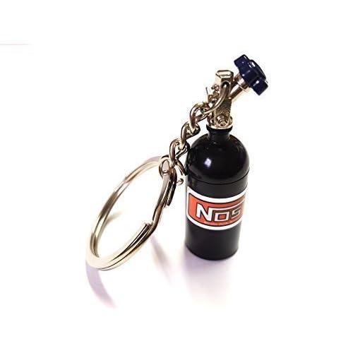1 x NOS power : protoxyde d'azote d'injection noir porte-clés porte-bouteille porte-clés en aluminium voiture 16 g40 vR6 g60 abnehmbarnen flacon avec couvercle du pendentif : env. 10 x 1,6) (largeur &