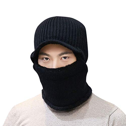 Bonnet vent Homme 1 Schwarz D'hiver Pour Acvip Tricot Coupe En OHHxwa