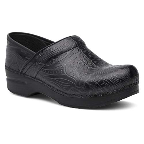 Dansko Women's Professional Black Tooled Clog 5.5-6 M...