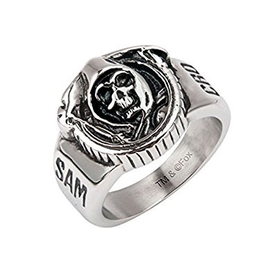 Inox Officially Licensed Sons Of Anarchy Stainless Steel Grim Reaper Ring Sz 10