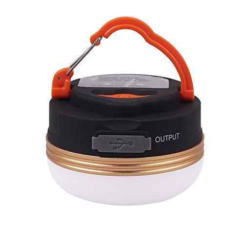 COLFULINE Campinglamp, led, oplaadbaar via USB, mini-magneet, tentlamp, campinglamp, 4 modi, SOS, waterdicht, draagbaar…