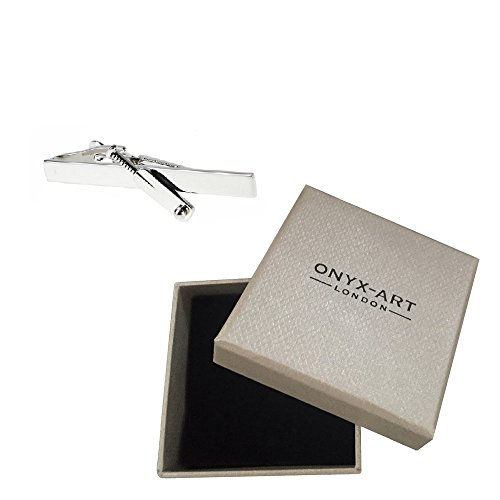 Onyx Art Men's Cricket Bat Sport Tie Bar In Deluxe Gift Box