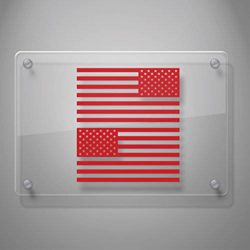 "Yoonek Graphics American Flag United States Decal Sticker for Car Window, Laptop, Motorcycle, Walls, Mirror and More. # 816 (3"" x 5.7"", Other)"