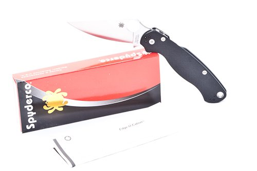 UPC 716104006816, Spyderco ParaMilitary 2, G10 Handle, Clip-Point Plain w/Clip - M (C81GP2)