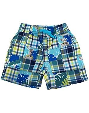Baby Boy Leafy Patchwork Shorts