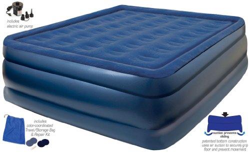 [해외]외부 공기 펌프, 여분 긴 여왕은 크기 침대를 가진 순수한 쾌적한 올려주기 단면도 팽창 식 에어 매트리스/Pure Comfort Raised-Profile Inflatable Air Mattress with Exter