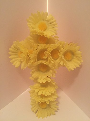 Small Cross Wall Decor - Yellow Daisies by Peters Partners Design