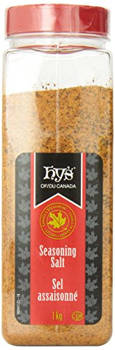 Hy's Seasoning Salt, 1 Kilograms/35.27oz {Imported from Canada} by HYS
