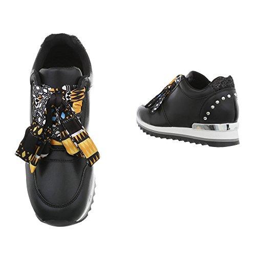 Ital High G Zeppa design 124 Sneaker Scarpe Sneakers Da Nero Donna zFzc6Pp