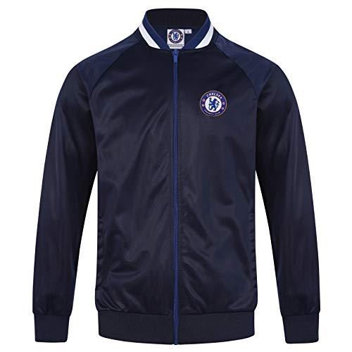 (Chelsea FC Official Soccer Gift Mens Retro Track Top Jacket Navy Medium)