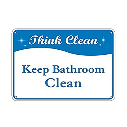 Amazon Com Eeypy Personalized Metal Signs For Outdoors Think Clean