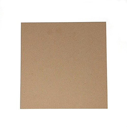 12 x 12 Inches 30 Point Kraft Light Medium Weight Chipboard Sheets - 25 Per Pack by Logic Dealz