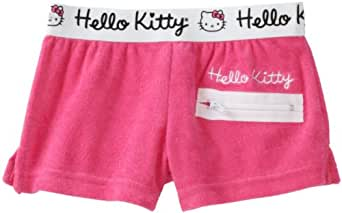 Hello Kitty Big Girls'  Big Terry Short, Hot Pink, 7/8