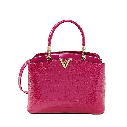 New European And American Fashion Trend High-end Crocodile Pattern V Word Shoulder Portable Temperament Handbag Yellow