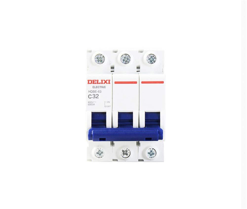 OIASD Disjoncteur, Interrupteur d\'air, Protection Contre Les fuitesPetit Interrupteur d\'air de disjoncteur triphasé HDBE 3P 63A Protecteur d\'ouverture d\'air de 380v, 10A Interrupteur d'air