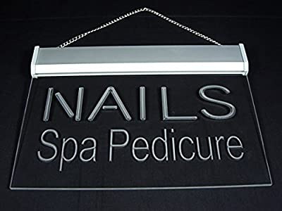 Nails Spa Pedicure Beauty Salon Shop Display Led Light Sign