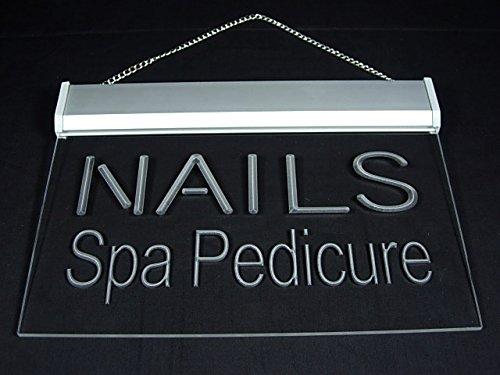 Nails Spa Pedicure Beauty Salon Shop Display Led Light Sign