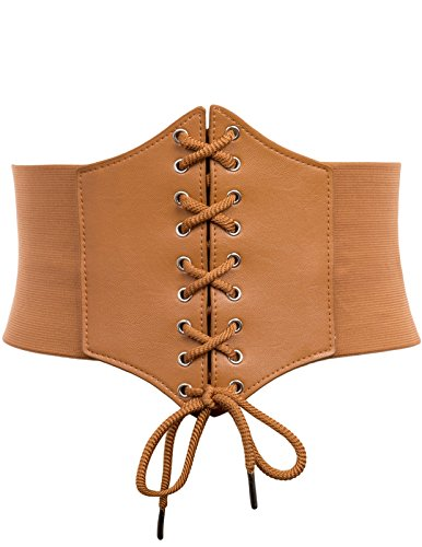 Corset Dress Belt for Middle Age Costume(L,Brown2 -