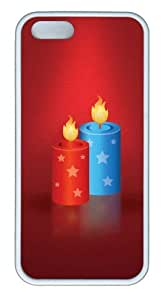Festive candles TPU White crazy iphone 5S cover for Apple iPhone 5/5S