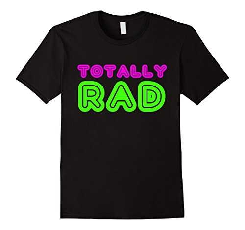 Mens Totally Rad 80s Neon Party T Shirt XL (80s Aerobic Costume)