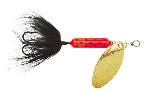 Yakima Bait Wordens Original Rooster Tail 1/16oz Spinner Lure, 3 Pack- Glitter White