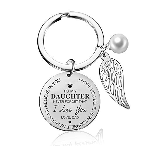 to My Daughter Keychain