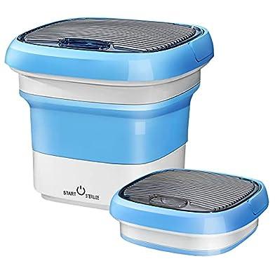 ENOKER-Portable-Washing-Machine-Fold-Mini-Washing-Machine-18-lbs-Small-Portable-Washer-for-Baby-Clothes-Underwear-Sock-in-Travel-Apartments-Blue