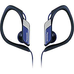 Panasonic Lightweight Water-resistant Sweat-proof Active Sport Headphones (Blue)