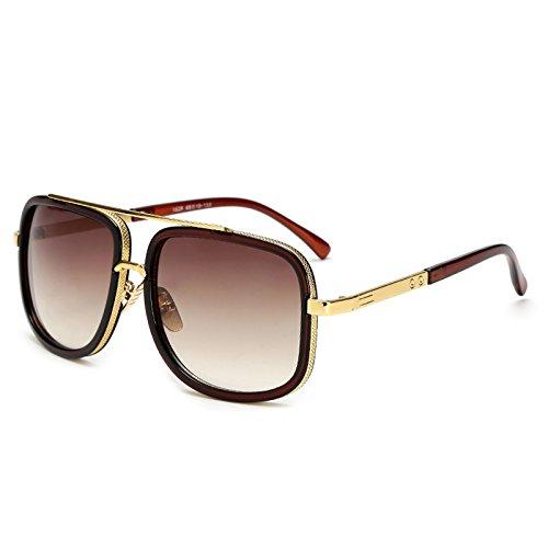 Sol Sol Mujer Hombres Sunglasses de Sol Gafas TL Varón JY1828 C3 JY1828 Mujer de para C6 de Hombre Square Gafas Mujeres Gafas CACt6Wq