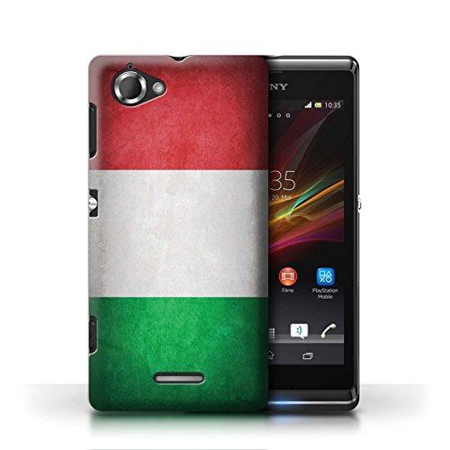 Etui / Coque pour Sony Xperia L/C2105 / Italie/italien conception / Collection de Drapeau
