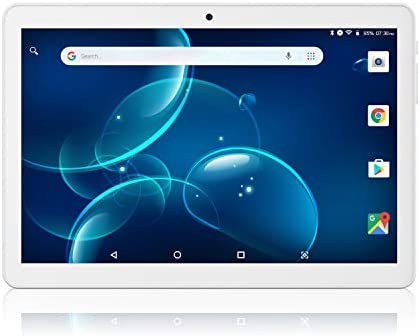 "Lectrus 10.1"" Tablet Android 9.0 Pie, Quad-Core, Laptop with Dual Sim Card Slots/Micro SD Card Slot, Dual Cameras & Speakers, 2GB RAM, 32GB Storage, IPS Full Display, 3G/WiFi, Bluetooth, GPS, FM"