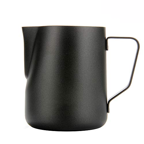 Espresso Coffee Milk Frothing Pitcher,WeHome Stainless Steel Creamer Macchiato Cappuccino Latte Art Making Pitcher Cups Perfect Christmas Gift for Your Family and Friends,12 oz/350ML ()