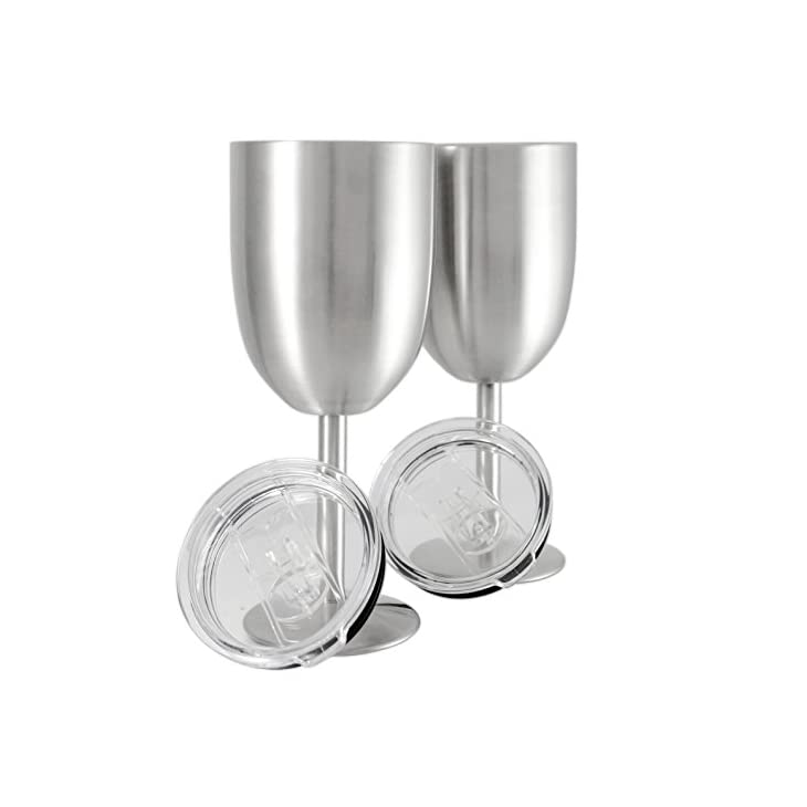 Double Wall Vacuum Sealed Insulated Stainless Steel Wine Glass