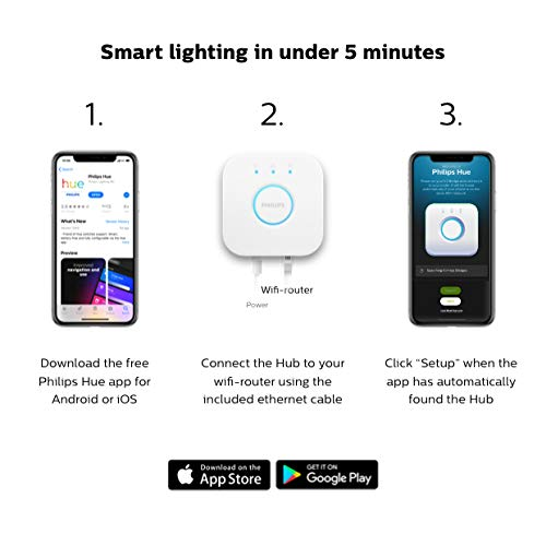 Echo Dot (3rd Gen) - Charcoal with Philips Hue White Smart Light Bulb Starter Kit (All US Residents) by Amazon (Image #9)
