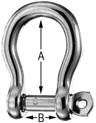- Wichard Stainless Steel Captive Pin Bow Shackle With Self-Locking Pin