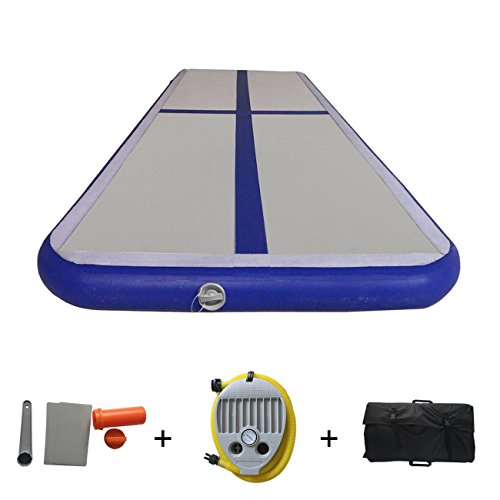 Gymnastics Air Floor Mat Inflatable Air track Air Tumbling Mat For Home use, Gymnastics Training, Beach, Yoga on Water 118''/196''(9.8ft/16.4ft)