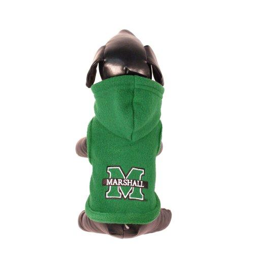 NCAA Marshall Thundering Herd Polar Fleece Hooded Dog Jacket, Small, My Pet Supplies