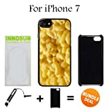 mac and cheese ipod 5 case - Innosub Custom iPhone 7 Case (Mac n cheese ) Edge-to-Edge Plastic Black Cover with Shock and Scratch Protection | Lightweight, Ultra-Slim | Includes Stylus Pen